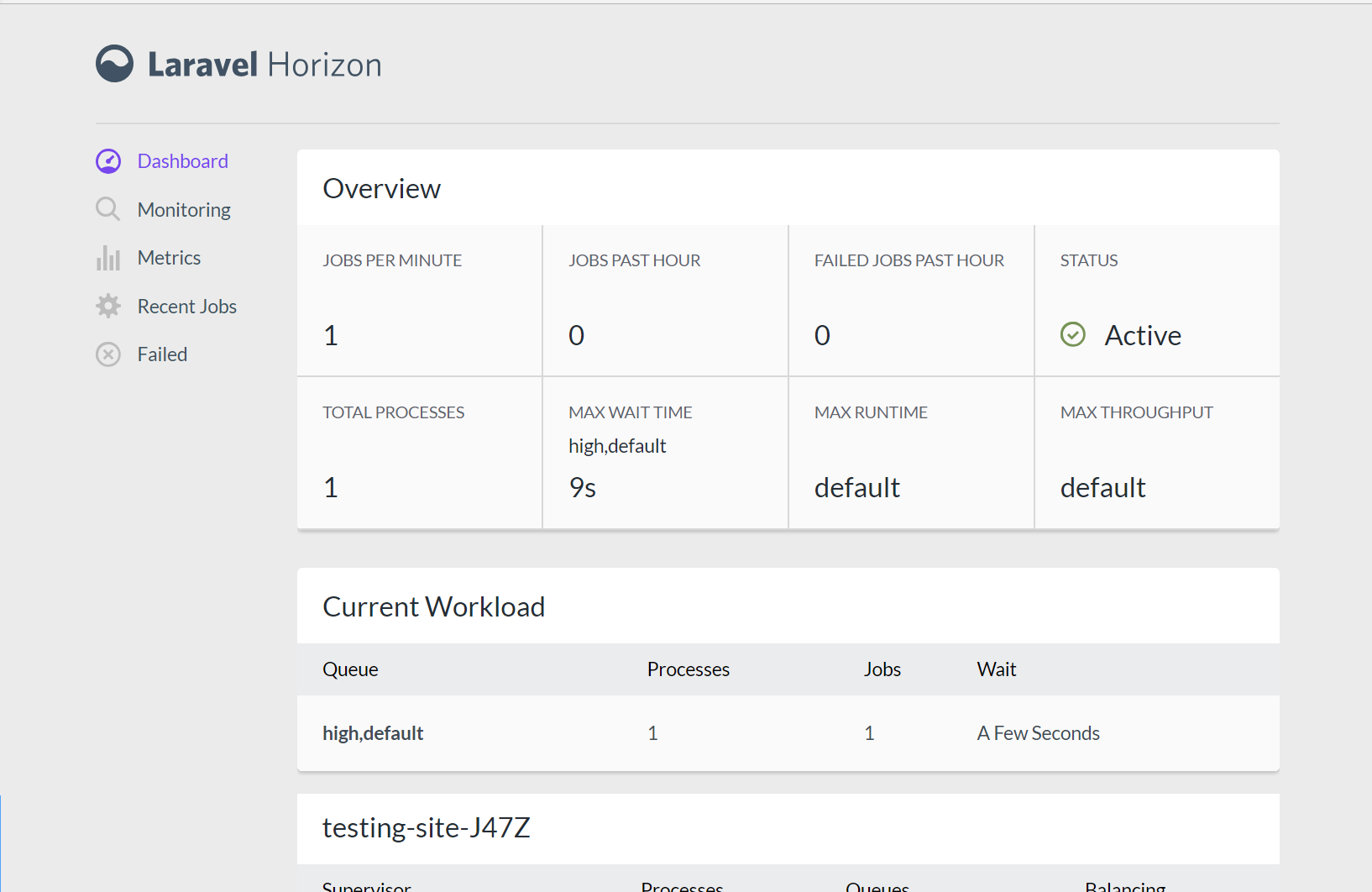 Laravel Horizon integration